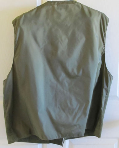 Green Suede Leather Men's Vest XL 1980s Arizona Jean Company Free Shipping