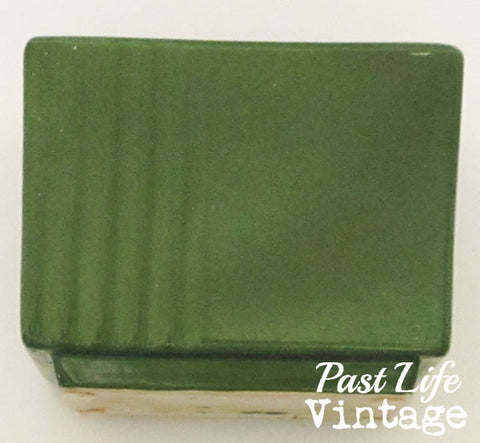 Vintage McCoy Floraline Planter Green Modern Style Mid Century USA