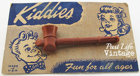 Vintage 1950s Kiddies Bubble Pipe on Original Card