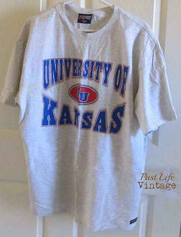 KU Jayhawks University of Kansas Vintage 90s T-shirt Sz XL Jansport Free Shipping