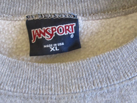KU Jayhawks University of Kansas Sweatshirt Vintage 1980s Jansport XL