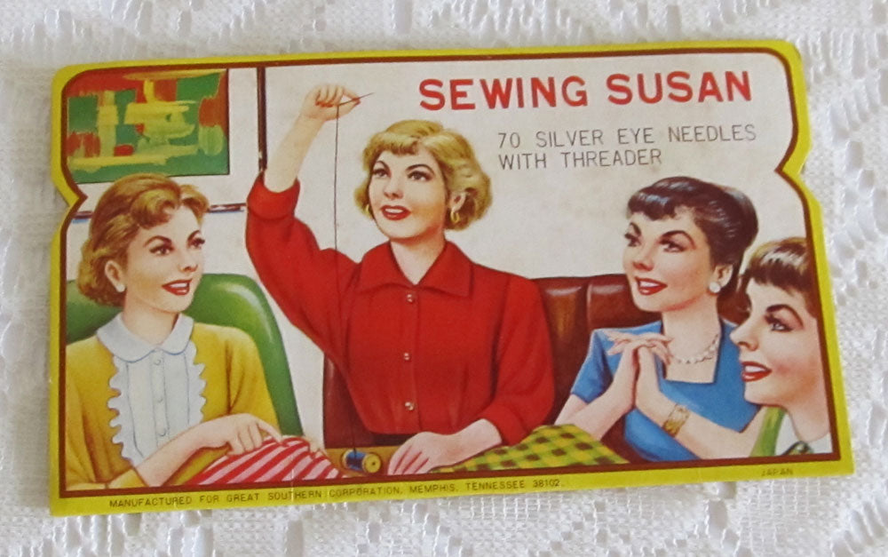Vintage Sewing Susan Needle Book Made in Japan for Great Southern Corp Memphis TN