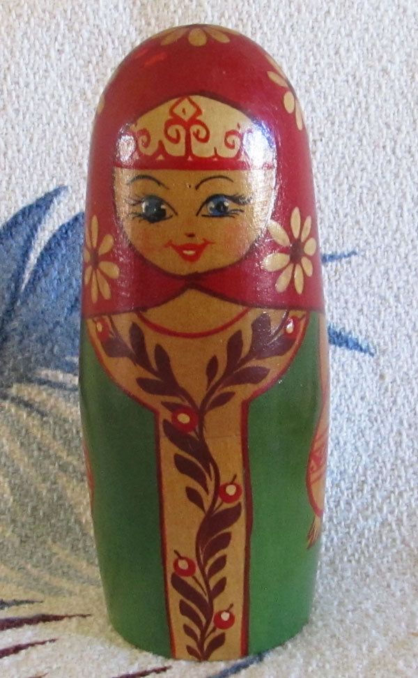 Russian Chime Doll Soviet Era Matryoshka Music Toy Vintage 1980s