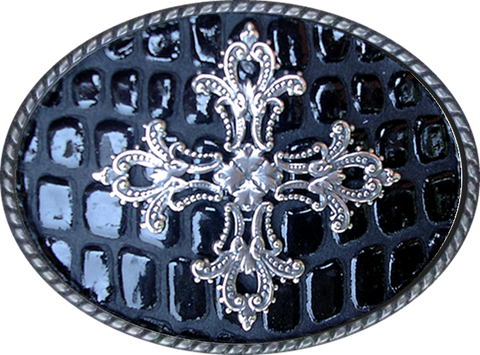 Cross Embossed Buckle