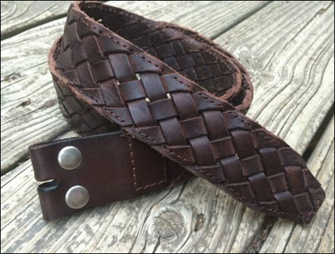 Brown Braided Leather