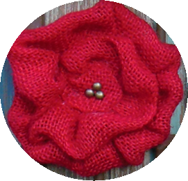 Red Pepper Burlap Flower