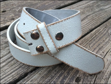 White Distressed Leather