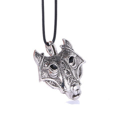 Norse Wolf Head Necklace