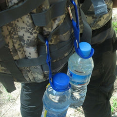 Aluminum Carabiner Water Bottle Rubber Holder
