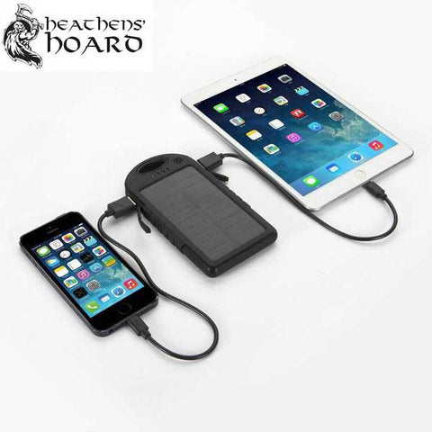 Portable Waterproof Solar Powered Charger for Smart Phones/Tablets