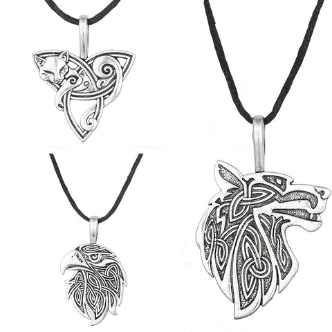 Norse Eagle, Wolf and Cat Pendants