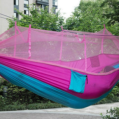 Portable Single-person Hammock with Mosquito Net
