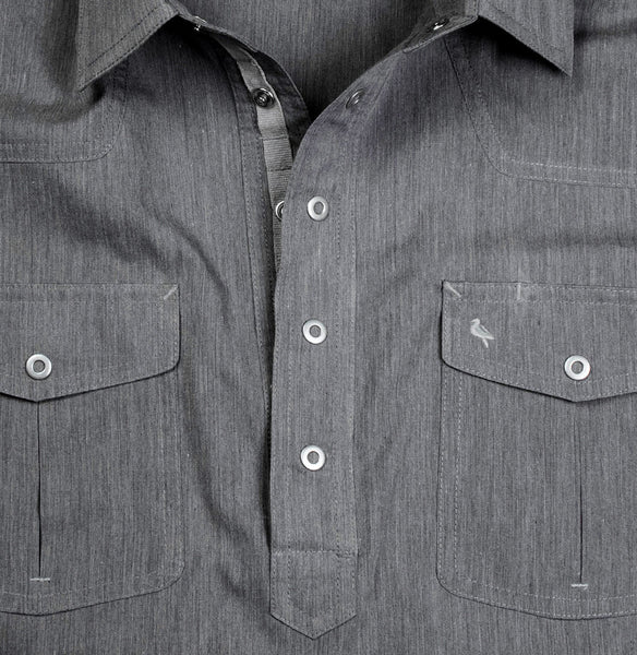 Men's Popover Shirt - Petrified Charcoal