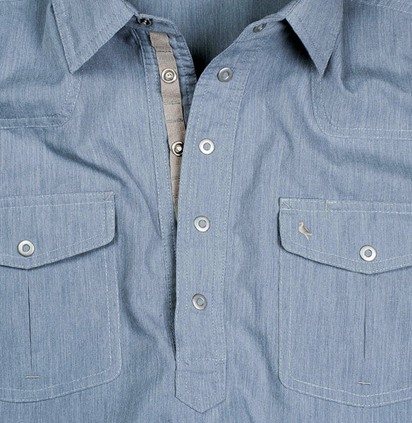 Men's Popover Shirt - Amigo Blue