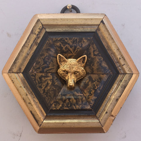 Gilt Painted Frame with Fox (3.75