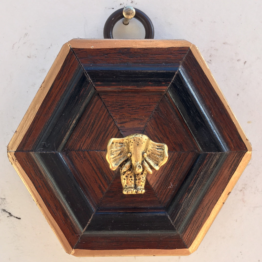 Wooden Frame with Elephant (2.75