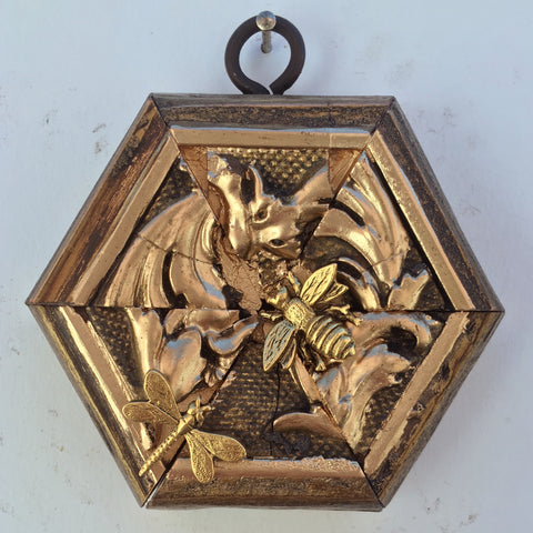 Gilt Frame with Napoleonic Bee and Dragonfly (3.5