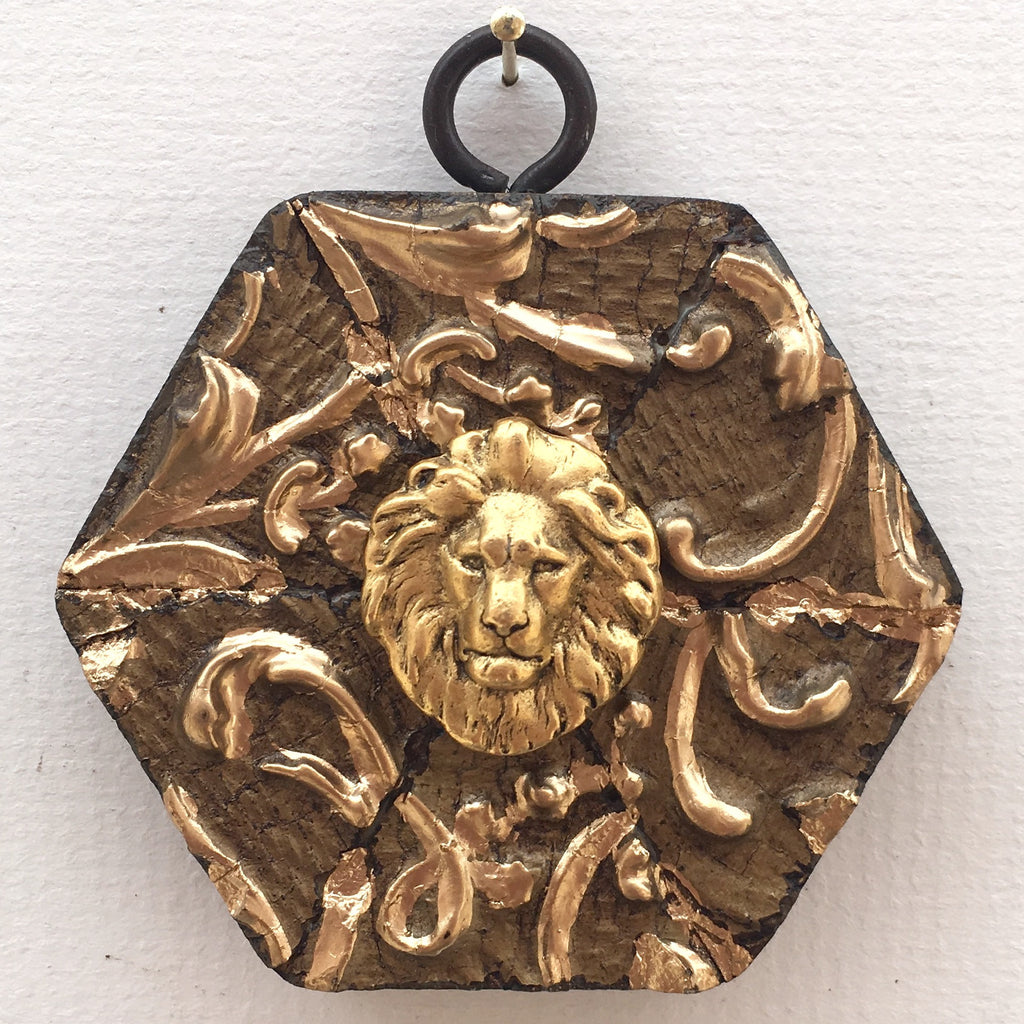 Gilt Leaved Frame with Lion (3
