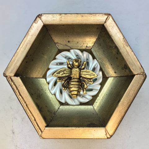 Gilt Frame with Napoleonic Bee on Button (2.5