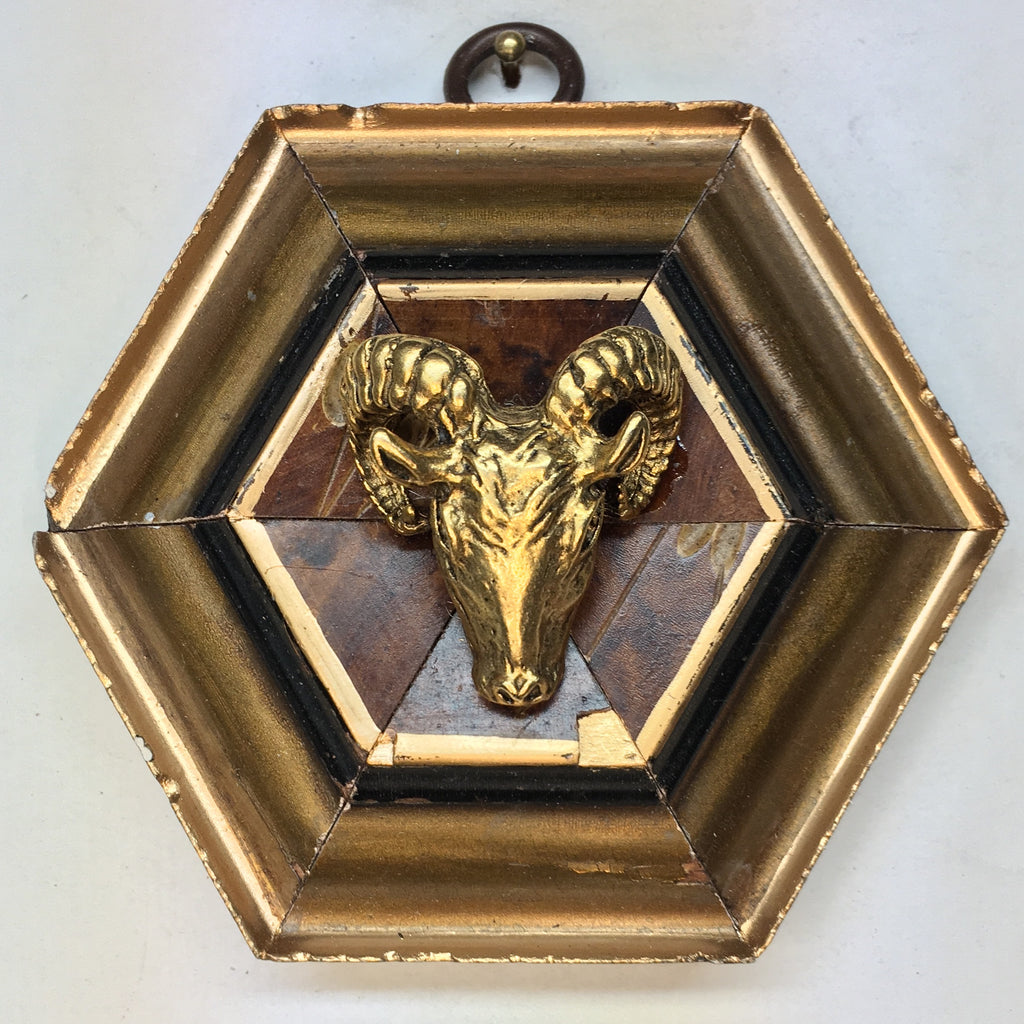 Gilt Wooden Frame with Ram (3.75