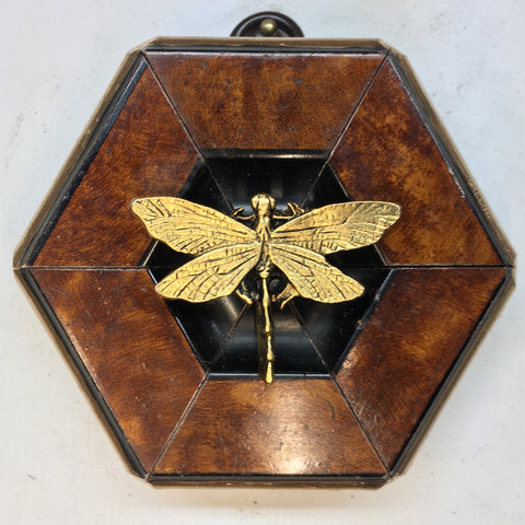 Burled Frame with Dragonfly (3.25