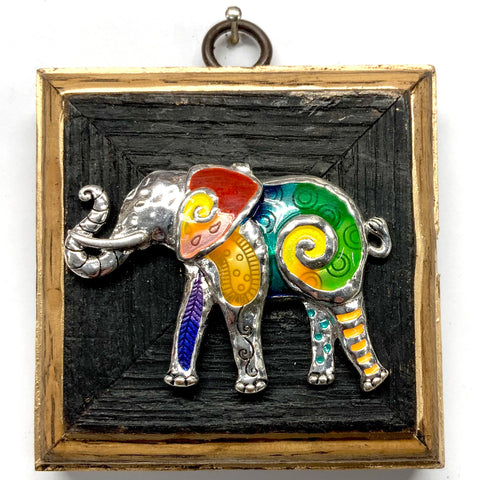 Bourbon Barrel Frame with Vintage Elephant Brooch (3