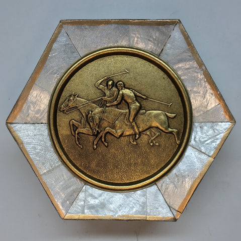 Mother of Pearl Frame with Polo Coin (4.25