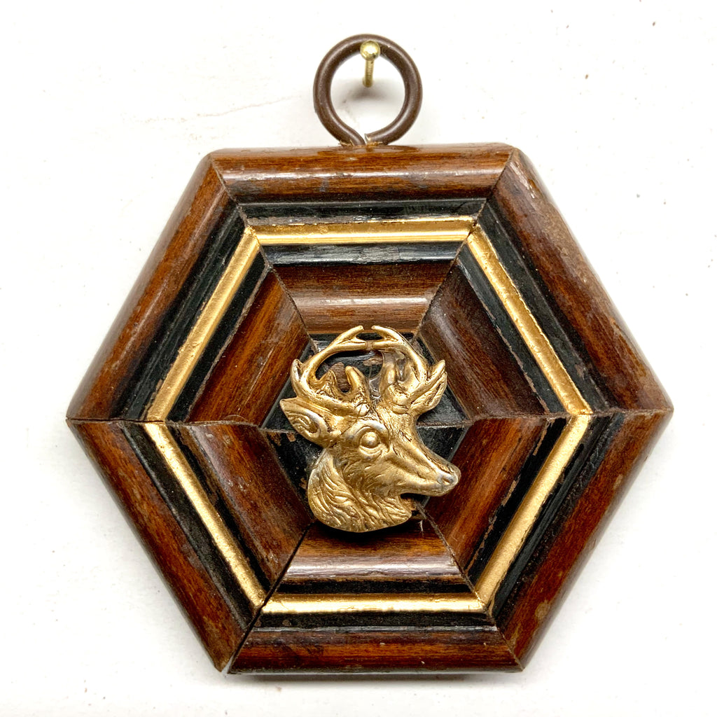 Wooden Frame with Stag (3