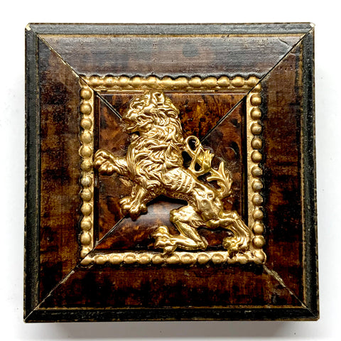 Burled Frame with English Lion (3.25