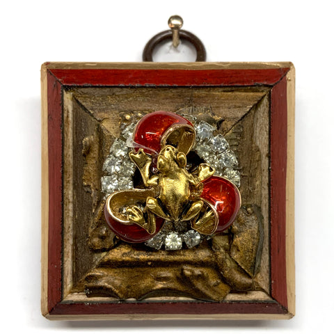 Lacquered Frame with Frog on Brooch (2