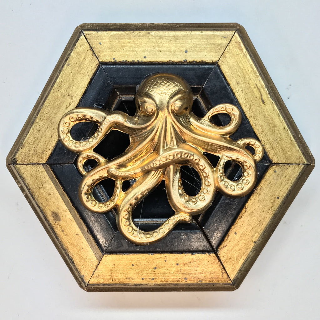 Gilt Frame with Octopus (4
