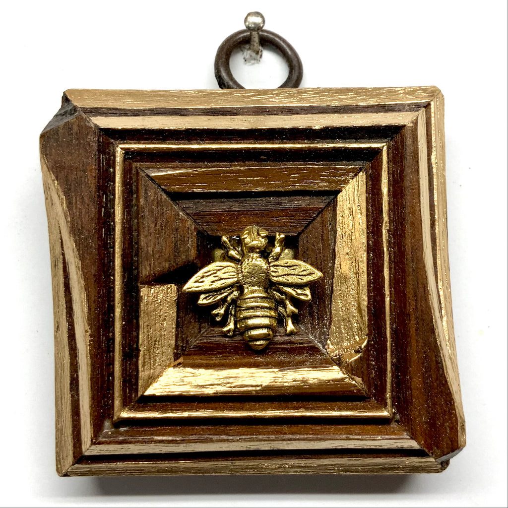 Wooden Frame with Napoleonic Bee (2.5