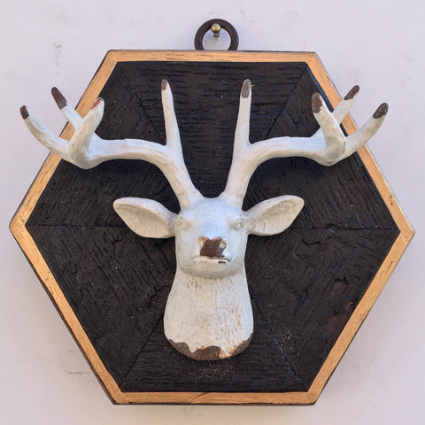 Bourbon Barrel Frame with Stag Head (4.5