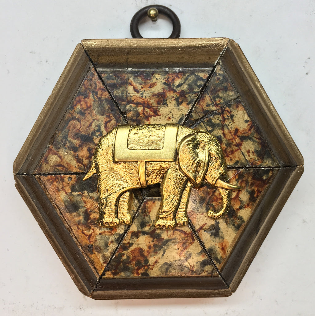 Marbled Frame with Elephant (3.25