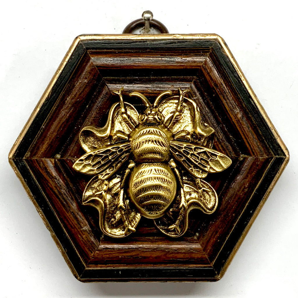Wooden Frame with Grande Bee on Brooch (3