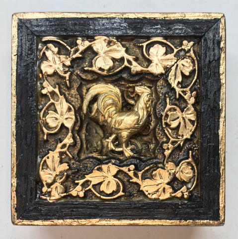 Bourbon Barrel Frame with Rooster (3.5