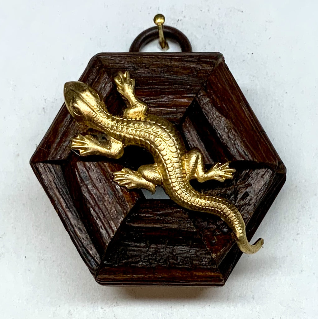 Wooden Frame with Lizard (2.25