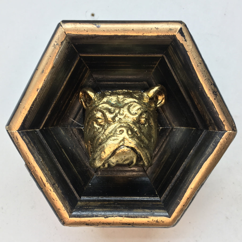 Wooden Frame with Bulldog (3.25