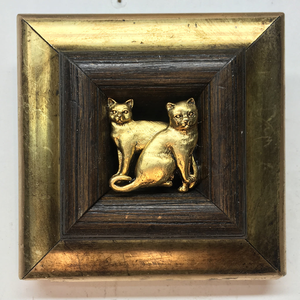 Gilt Frame with Cats (3.5