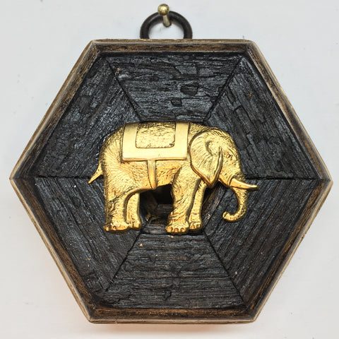 Bourbon Barrel Frame with Elephant (3.25