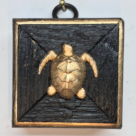 Bourbon Barrel Frame with Turtle (3