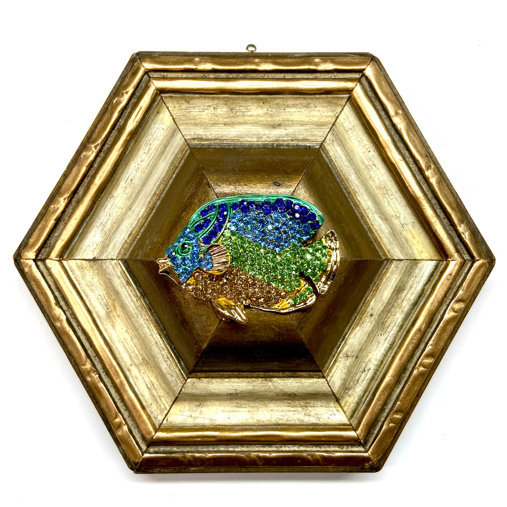 Painted Frame with Sparkle Fish (5.75