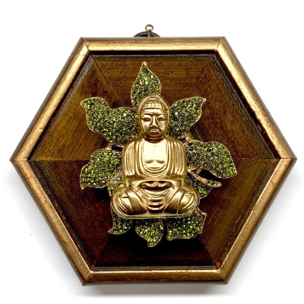 Painted Frame with Buddha on Brooch (4.25