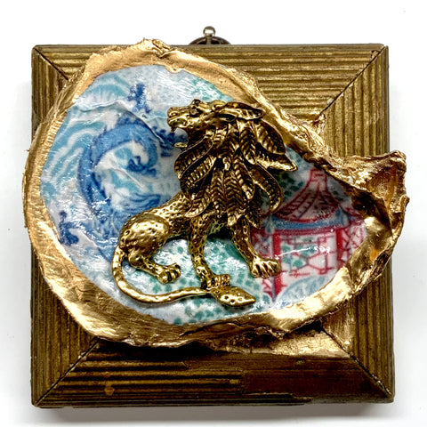 Gilt Frame with Lion on Oyster Shell (3.75