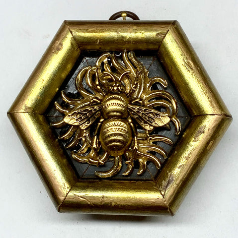 Gilt Frame with Grande Bee on Brooch (3.75