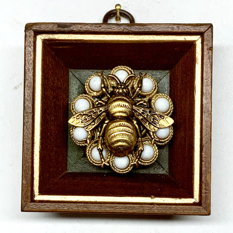 Gilt Frame with Grande Bee on Brooch (3
