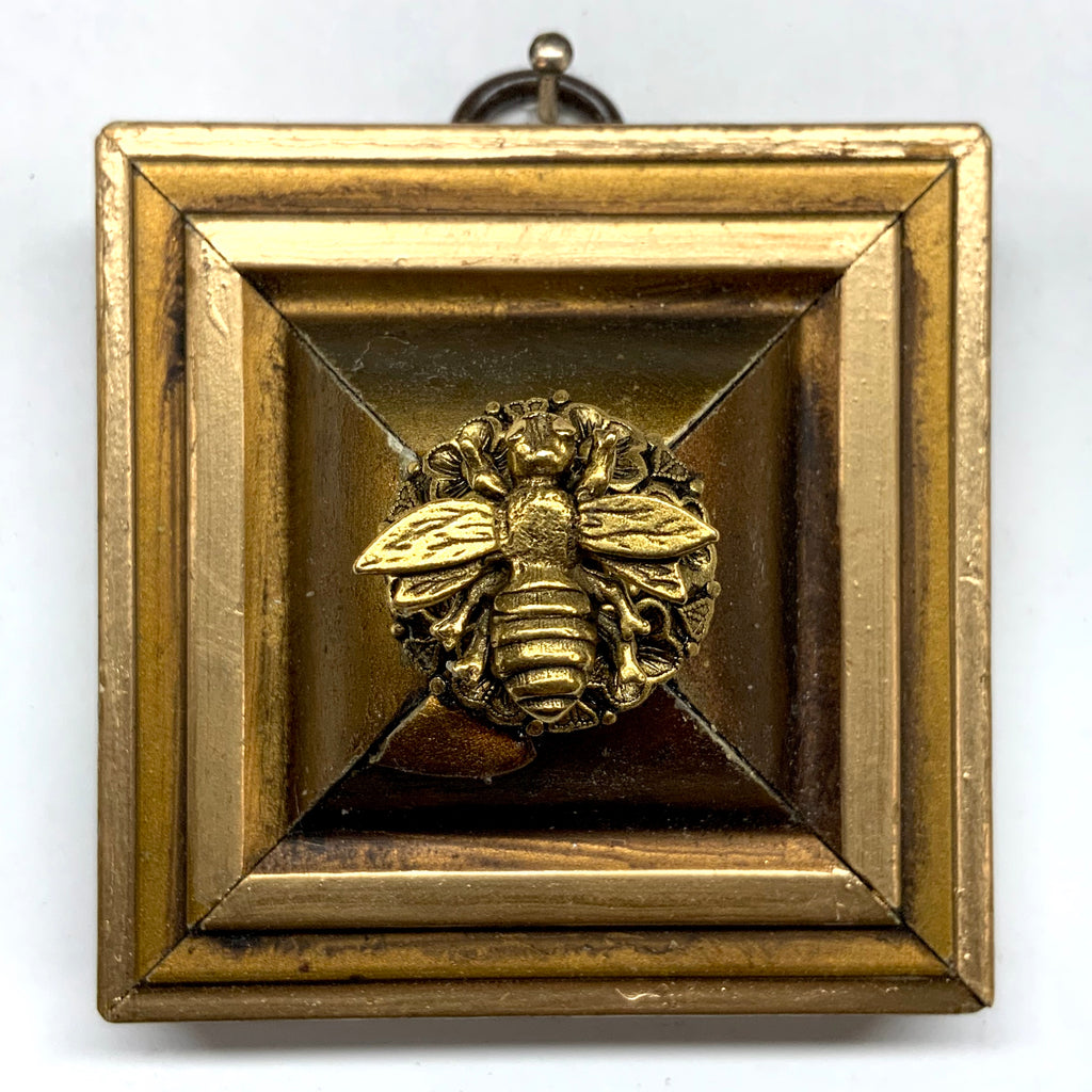 Gilt Frame with Napoleonic Bee on Brooch (2.5
