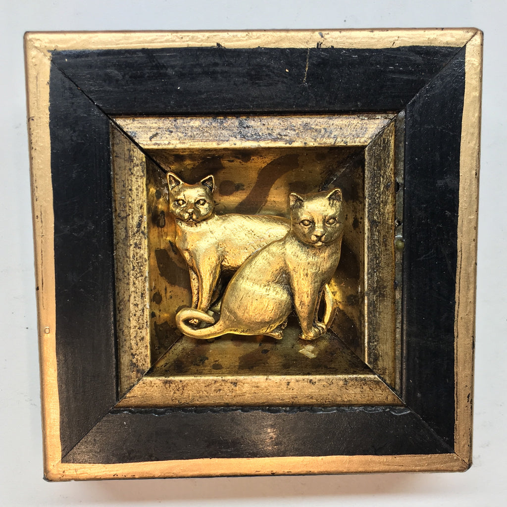Lacquered Frame with Cats (3