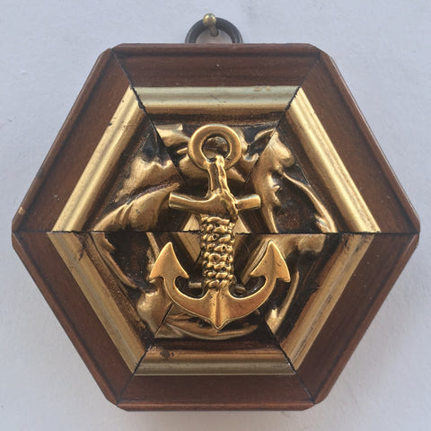 Gilt Wooden Frame with Anchor (4