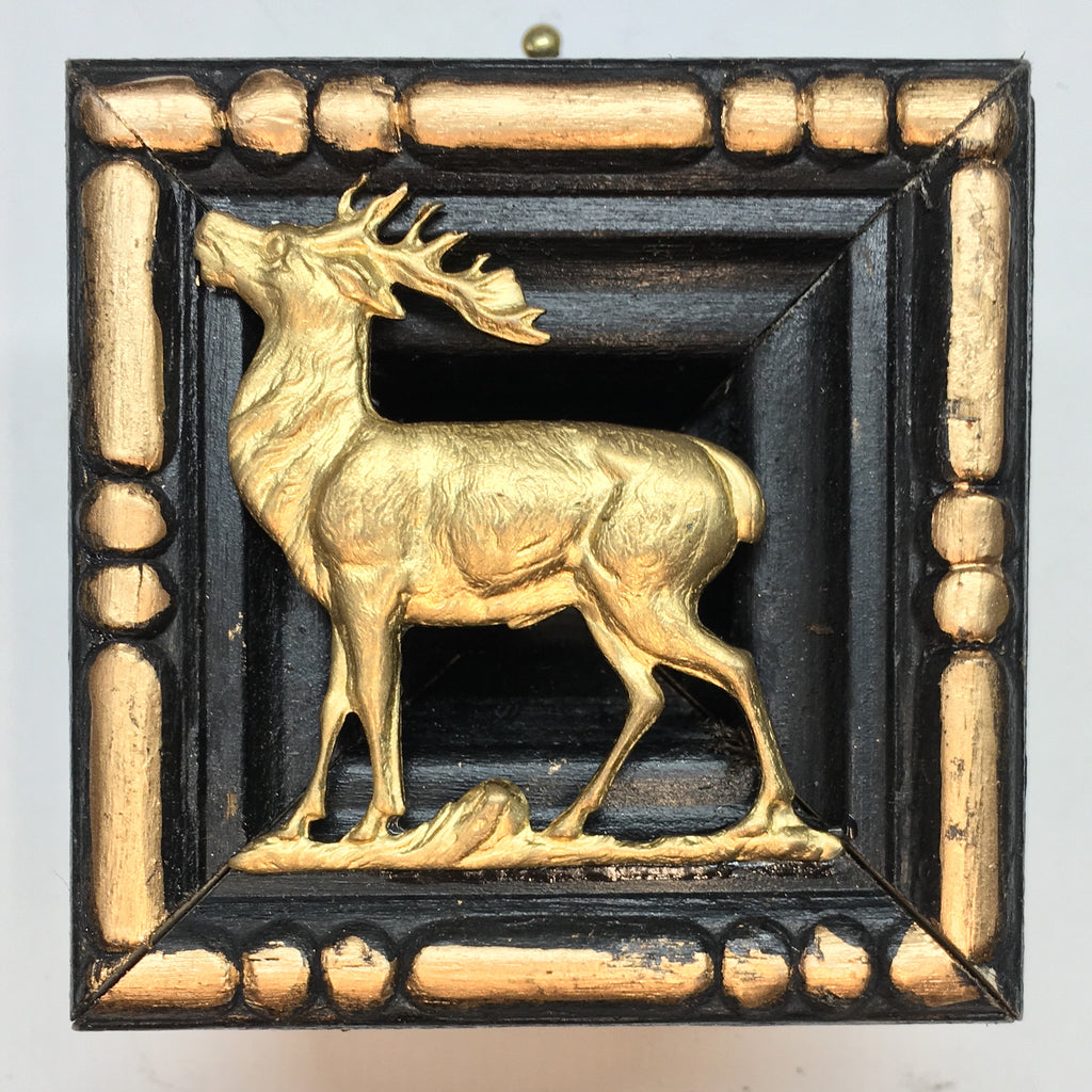 Lacquered Frame with Stag (2.5